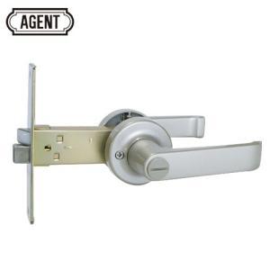 AGENT LB-1000 浴室 間仕切り レバーハンドル錠バックセット100mm 内側:サムターン/外側:非常開錠装置 e-comebiyori