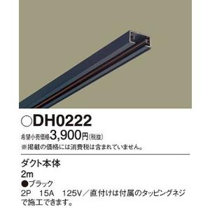 パナソニック DH0222 ダクトレール本体 黒 2m...