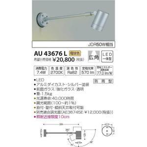 AU43676L コイズミ 屋外用スポットライト LED(電球色) e-connect