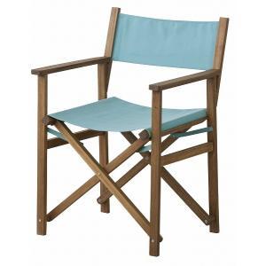 (メーカー直送) NX-601BL 東谷 パティオ ディレクターチェアー 椅子 イス ブルー|e-connect