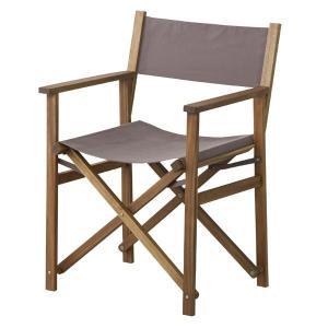 (メーカー直送) NX-601LBR 東谷 パティオ ディレクターチェアー 椅子 イス ライトブラウン|e-connect