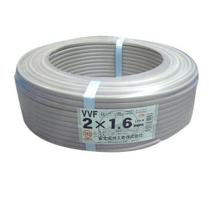 富士電線 VVFケーブル 1.6mmX2C 100m巻 600Vビニル絶縁ビニルシースケーブル平形