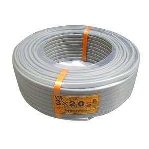 富士電線 VVFケーブル 2.0mmX3C 100m巻 600Vビニル絶縁ビニルシースケーブル平形