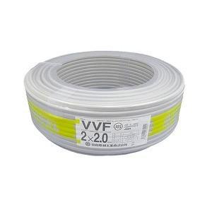 協和電線工業(株) VVFケーブル 2.0mmX2C 100m巻 灰 600Vビニル絶縁ビニルシースケーブル平形