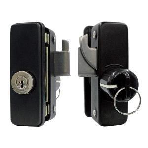 32010056 FUKI TLH-56 面付補助錠 スリムロック ブラック ブラック|e-connect