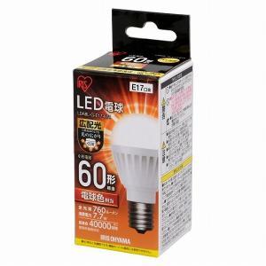 アイリスオーヤマ LED電球 E17 広配光 60形相当 電球色 LDA8L-G-E17-6T4 (567809)|e-connect
