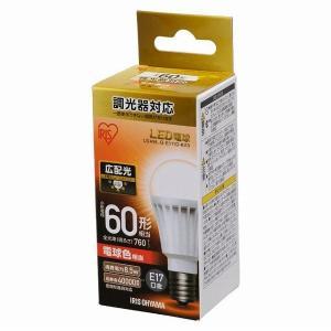 アイリスオーヤマ LED電球 E17 広配光 調光 60形相当 電球色 LDA9L-G-E17/D-6V3 (567986)|e-connect