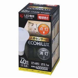 アイリスオーヤマ LED電球 人感センサー付 E26 40形相当 電球色 LDR5L-H-S6 (271765)|e-connect