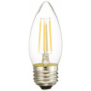 (在庫有 即納) LDC4LC40WE26-TM 東京メタル LED電球 シャンデリア型 電球色 40W形相当 LED(電球色) 440lm (E26)|e-connect