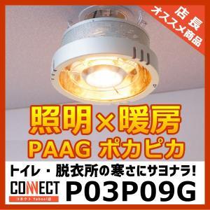 【長期欠品中】 ポカピカ P03P09G PAAG 吊り下げ型 ヒーター一体型 天井照明 ハロゲンヒーター トイレ 脱衣所 暖房 パアグ|e-connect