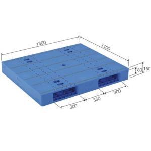 (メーカー直送) LX-1113R2 サンコー プラスチックパレット 三甲 ブルー (プラパレ) e-connect