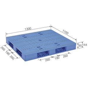 (メーカー直送) LX-1113R4-2 サンコー プラスチックパレット 三甲 ブルー (プラパレ) e-connect