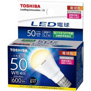 LDA6L-H-E17/S50W/2 東芝 LED電球 ミニクリプトン形 電球色 600lm (E17) (LDA6L-H-E17/S/50W 後継品)|e-connect