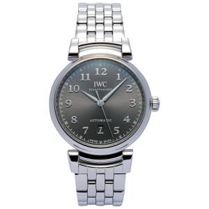 IWC 腕時計 メンズウォッチ IW356602 ダヴィンチ オートマチック40 グレー×シルバー ...