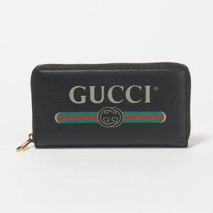 グッチ GUCCI 長財布 【GUCCI PRINT】 496317 0GCAT ブラック(8163...