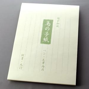 便箋 万年筆用 「鳥の子」 和紙 【ゆうパケットA可】|e-daido