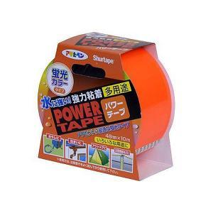アサヒペン 補修用テープ パワーテープ 48mm×10m 蛍光オレンジ T106