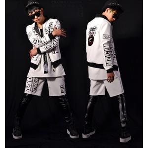 b系 メンズ ダンス衣装 コート+パンツ 細身 男性用 演出服 練習着|e-dance