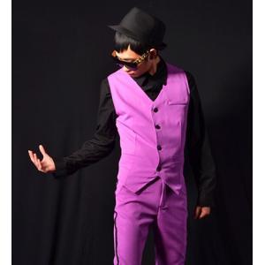 b系 メンズ ダンス衣装 ベスト 細身 男性用 演出服 練習着|e-dance