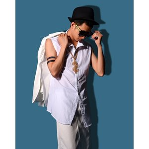 b系 メンズ ダンス衣装 袖無しシャツ 細身 男性用 演出服 練習着|e-dance
