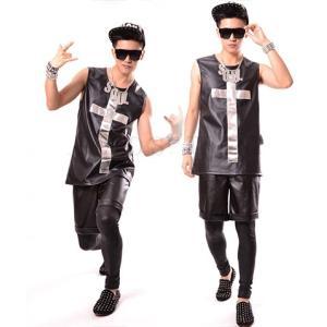 b系 メンズ ダンス衣装 パンツのみ,ベストのみ 細身 男性用 演出服 練習着|e-dance
