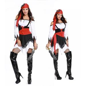 ハロウィン コスプレ 海賊 レディース カリブの海賊 コスチューム 大人用  クリスマス パイレーツ 仮装|e-dance