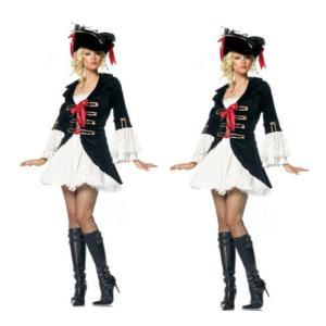 コスプレ衣装 海賊 ハロウィン 仮装 パイレーツ コスチューム カリビアン風 大人用 クリスマス 仮装 変装 帽子付き|e-dance