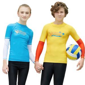 可愛い水着 子供 長袖水着 紫外線対策 ナイロン ストレッチ 柔軟 速乾 カラーマチング 滑らか 快適 ビッチ 夏|e-dance