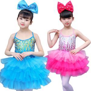 キッズダンス衣装 キャミソール プリンセスドレス 子供 女の子 肩出し 背出し カラフル 層付き ファッション 快適 プリンセス イベント お祝い ダンスチーム|e-dance