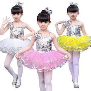発表会で着るなら是非! キャミソール ワンピース キッズ 女の子 肩出し 背出し 層付き スパンコール 可愛い 潮流 演出服 学園祭 祝日|e-dance