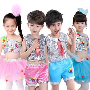 新作 セット プリンセスドレス 子供 男の子 女の子 スパンコール コサージュ付き 無地 へそ出し 鮮やか 通気性 可愛い 演出チーム 演出 こどもの日|e-dance