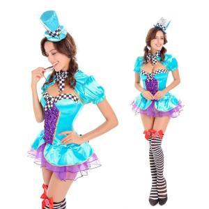ハロウィン コスプレ ピエロ服 マジーシャーン マジック レディース ク リスマス 仮装 イベント パーティー ハロウィン衣装|e-dance