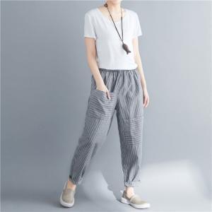 サルエルパンツ ストライプ レディース ファッション アウトドア |e-dance