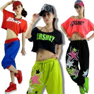 ダンス衣装 tシャツ ジャズダンス  レディース ファッション ストリートダンス お買い得 ダンス衣装 ボリュームたっぷり 派手 ダンス衣装 e-dance