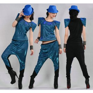 ダンス衣装 上下セット セットアップ ジャズダンス  レディース ファッション ストリートダンス お買い得 ダンス衣装 ボリュームたっぷり|e-dance