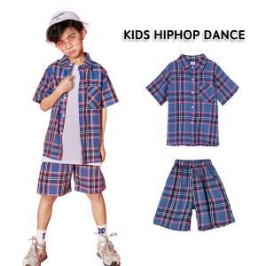 半袖 Tシャツ ショートパンツ 子供 キッズ 男の子 コットン100% ルーズ 柔軟 通気性 快適 格子柄 ファッション 個性 カッコイイ イベント 祝日 チアガール|e-dance