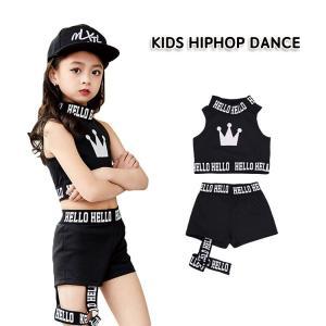 新作 ベスト ショートパンツ 子供 キッズ 女の子 コットン 細身 ストレッチ 柔軟 通気性 快適 韓風 黒 へそ出し おしゃれ 個性 カッコイイ 潮流 チアガール|e-dance