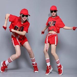 tシャツ ジャズダンス  レディース ファッション ストリートダンス お買い得 ダンス衣装 ボリュームたっぷり 派手 ダンス衣装 e-dance