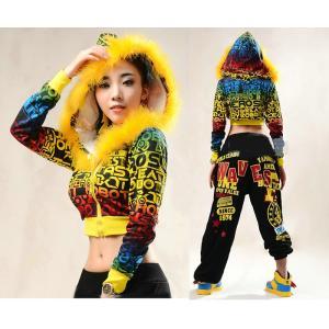 パーカー ジャンパー トップス ジャズダンス  レディース ファッション ストリートダンス お買い得 ダンス衣装 ボリュームたっぷり 派手 ダンス衣装|e-dance