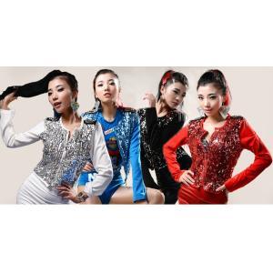ジャンパー ジャズダンス  レディース ファッション ストリートダンス お買い得 ダンス衣装 ボリュームたっぷり 派手 ダンス衣装|e-dance