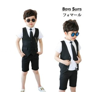 男の子 子供スーツ フォーマル 3セット 韓流 イギリス風 無地 相性抜群 体型 細身 カッコイイ 潮流 柔軟 快適 通気性 夏 イベント こどもの日 祝日 パーディー|e-dance