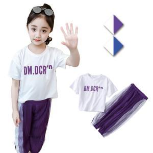 キッズ服 女の子 上下セット セット 半袖 Tシャツ カジュアルパンツ 韓風 ストライプ カジュアル スポーツ 可愛い プリンセス 女の子 ファッション|e-dance