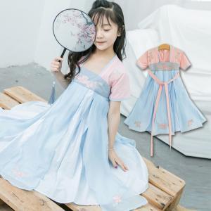 新年号◇令和◇ ワンピース 中華風ドレス チュールスカート パーティードレス 中華風 和風 プリンセス 演出 可愛い 女の子 ファッション|e-dance