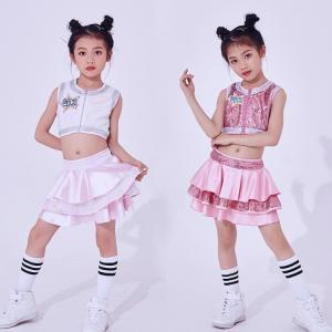 キッズ 子供服 スカート タンクトップ 上下セット ジュニア ダンス 衣装 ヒップホップ ジャズダンス ガールズ ヒップホップ|e-dance