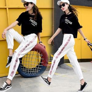 デニムパンツ ダメージジーンズ ジーパン スキニー カプリパンツ 7分パンツ レディース おしゃれ 韓国ファッション|e-dance