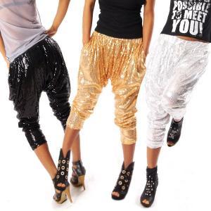 スパンコール ダンス衣装 ロングパンツ スパンコール衣装 ヒップホップ レディース コスチューム ステージ イベント 発表会  演出服|e-dance