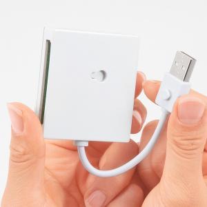 サンワサプライ USB2.0カードリーダー(ホワイト) ADR-ML15W e-dennet 04