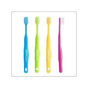 Lion/ライオン 歯科用 DENT.EX systema genki 12本 歯ブラシ かたさ1種類(幅広コンパクトヘッド)ハンドルカラー4色(アソート)|e-dent