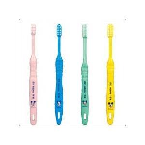 【限定在庫限り】【メール便対応10本まで】ライオン 歯科用 EX.kodomo 11 M Disney 歯ブラシ(ふつう)ハンドルカラー4色(アソート)混合歯列後期用(8〜12歳)|e-dent