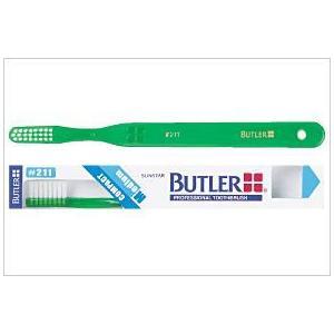 【送料値下げ!】サンスター 歯科用 バトラー歯ブラシ #211 1本 歯ブラシ(ふつう)コンパクトヘッド ハンドルカラー6色(指定不可)|e-dent